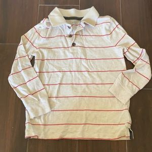 • Old Navy oatmeal striped shirt, 5T •